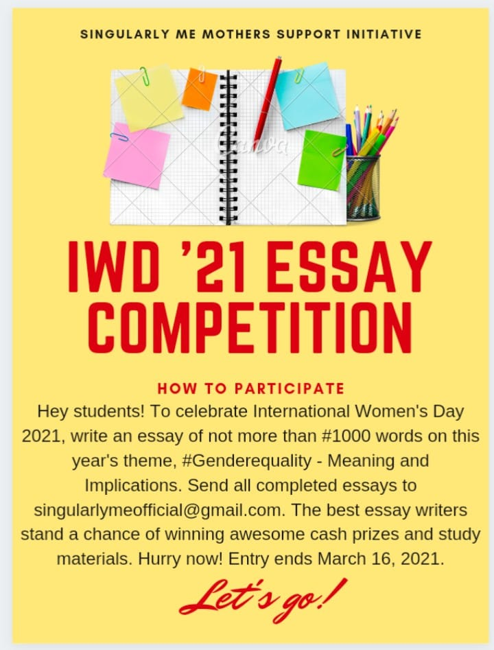 Simmsi IWD ESSAY COMPETITION
